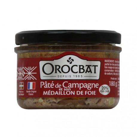 Country Pâté and its Medallion of Liver (20% foie gras)