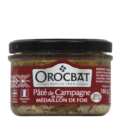 Country Pâté and its Medallion of Liver (20% foie gras)