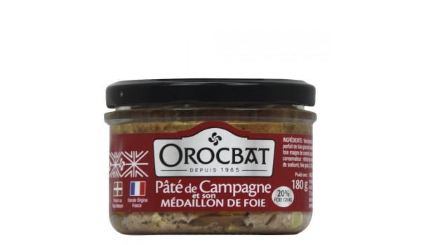 Paté de campaña y su medallón de hígado (20% foie gras)