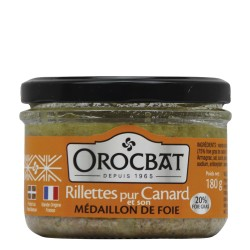 Pure Duck Rillettes and its Liver Medallion