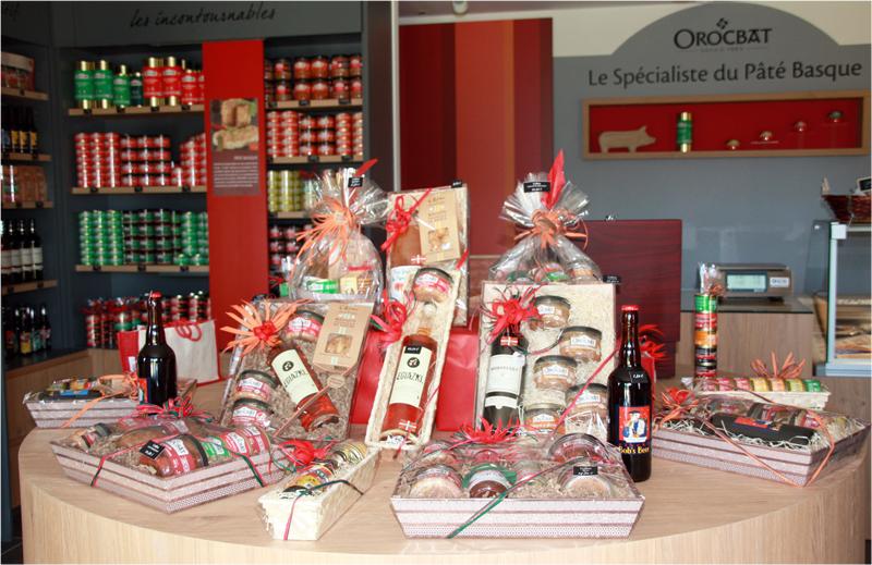 Coffrets cadeaux produits basques
