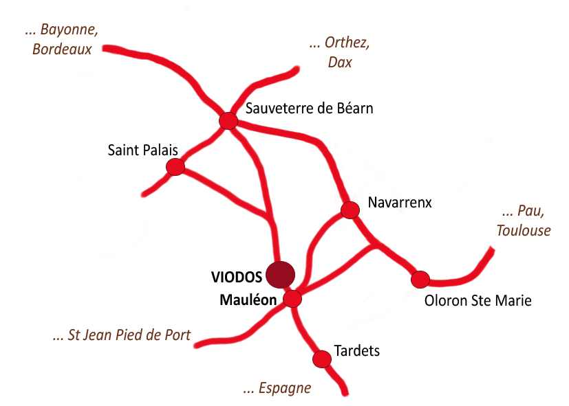 Plan d'accès à notre boutique à Mauléon